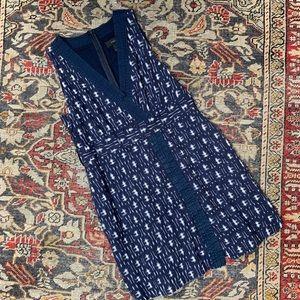 J. Crew Ikat Faux Wrap Dress